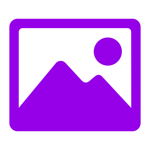 Icône d'image (symbole png) violet