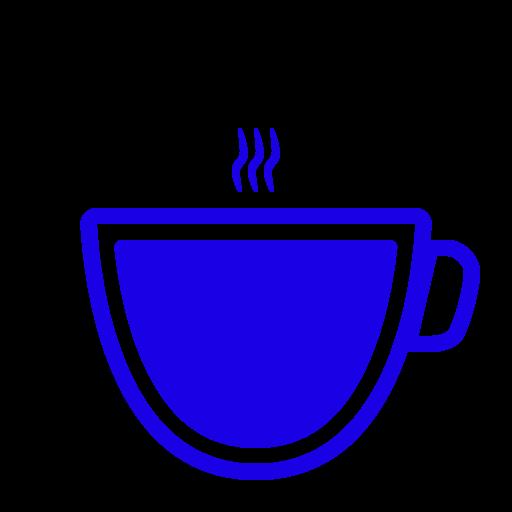 Icône de café bleu (symbole png)
