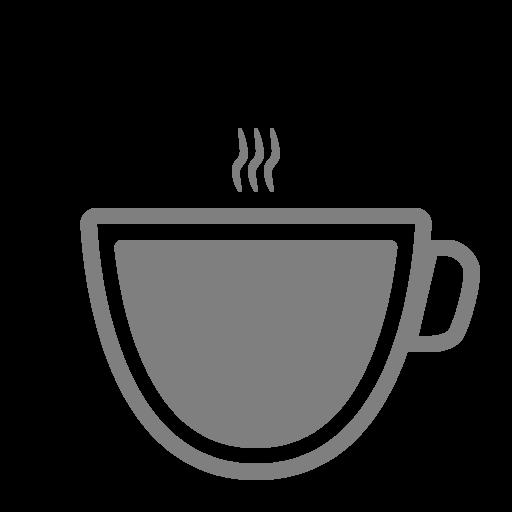 Icône de café gris (symbole png)