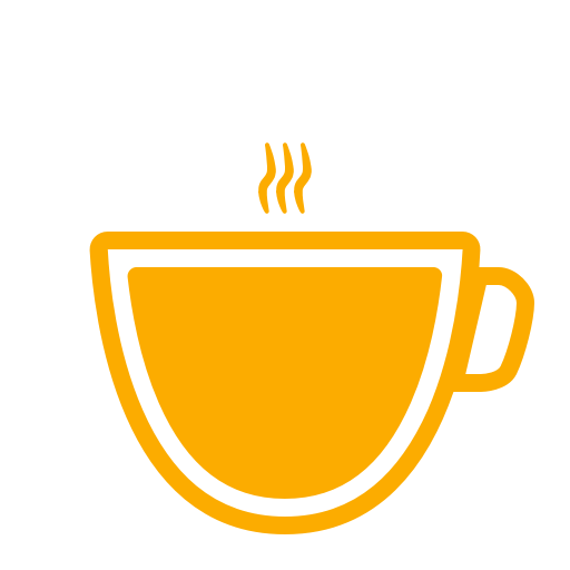 Icône de café jaune (symbole png)