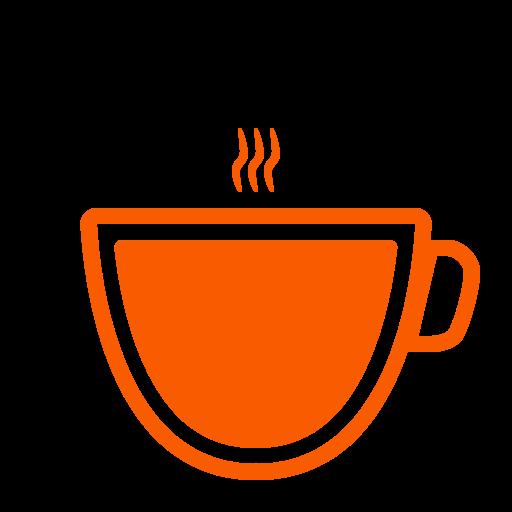 Icône de café (symbole png) orange