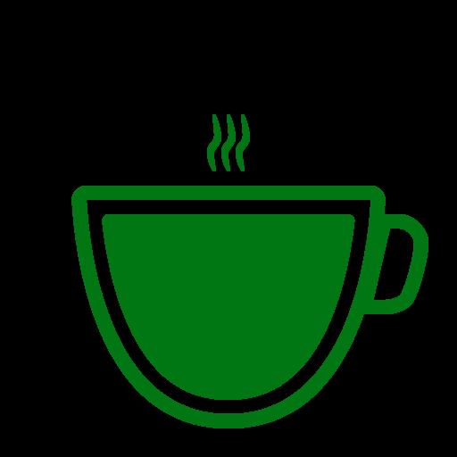 Icône de café vert (symbole png)