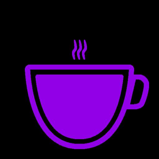 Icône de café violet (symbole png)
