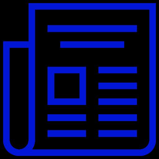 Icône de nouvelles bleue (symbole png)