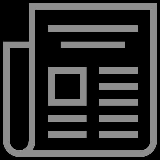 Icône de nouvelles (symbole png) gris