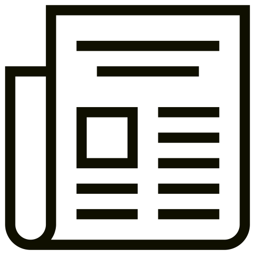 Icône de nouvelles (symbole png) noir