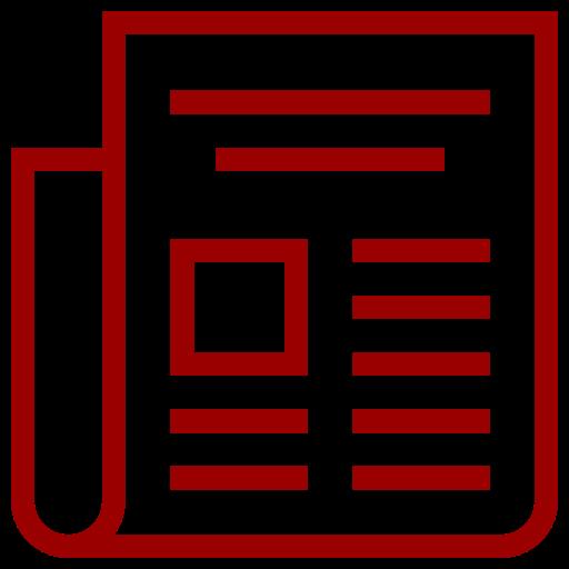 Icône de nouvelles rouges (symbole png)