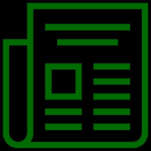 Icône Actualités (symbole png) vert