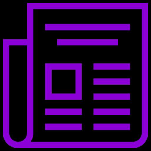 Icône de nouvelles (symbole png) violet