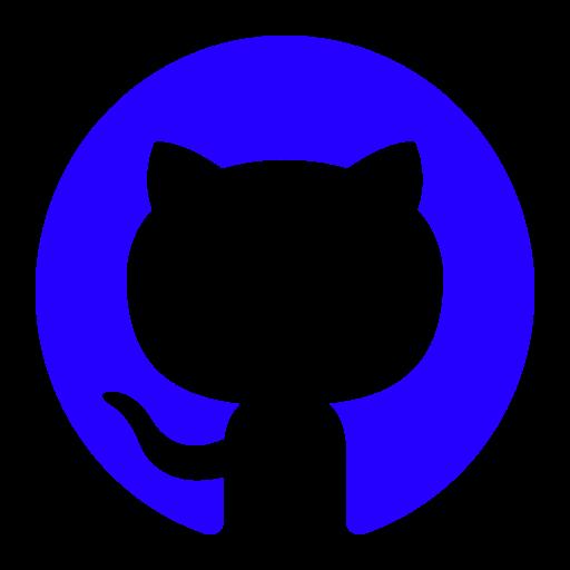 Icône Github (symbole du logo png) bleu
