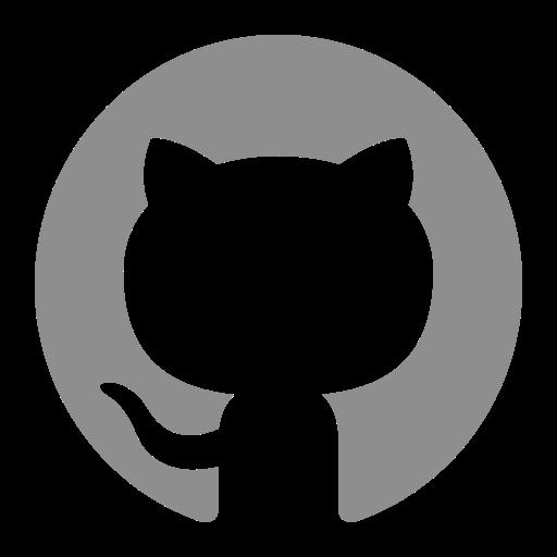 Icône Github (logo symbole png) grise