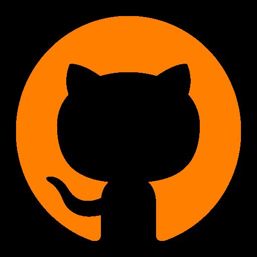Icône Github (symbole du logo png) orange
