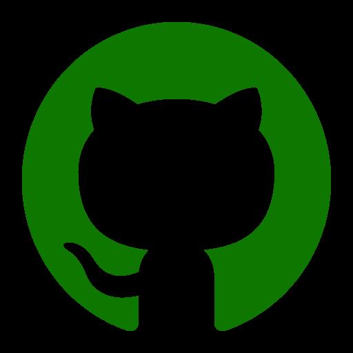 Icône Github (symbole du logo png) verte