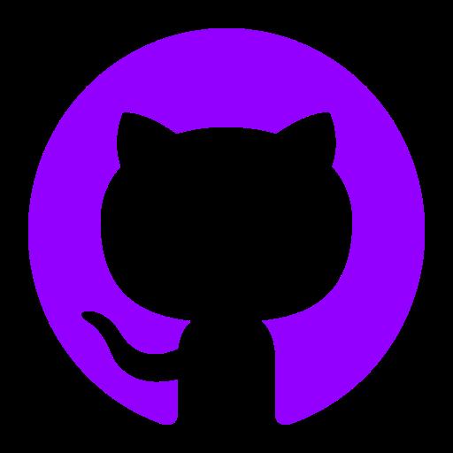 Icône Github (symbole du logo png) violet