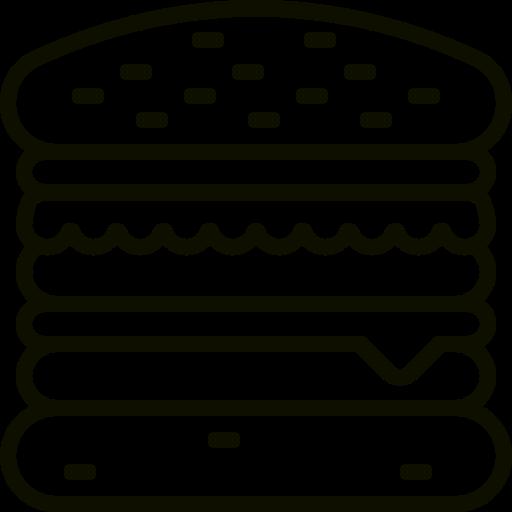 Icône de hamburger (symbole png) noir