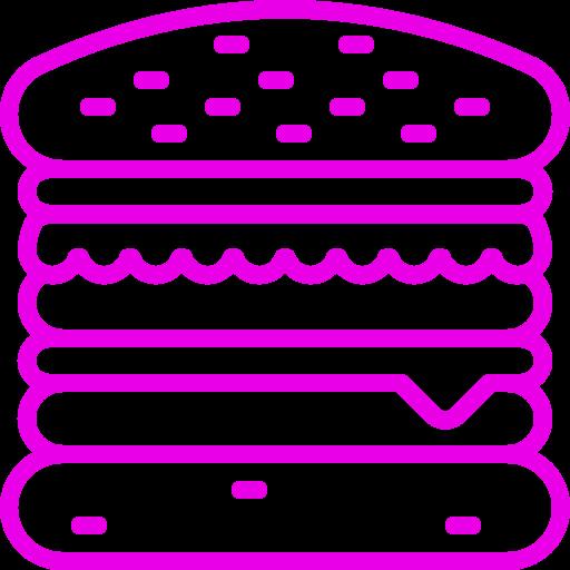 Icône Burger (symbole png) rose