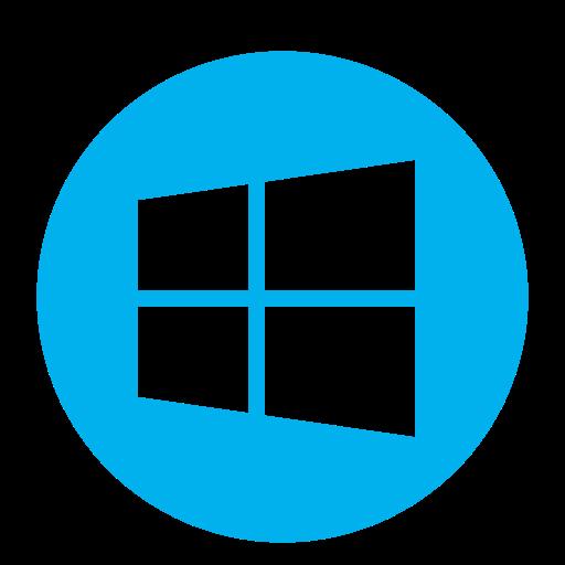 Logo Windows (icône png) bleu