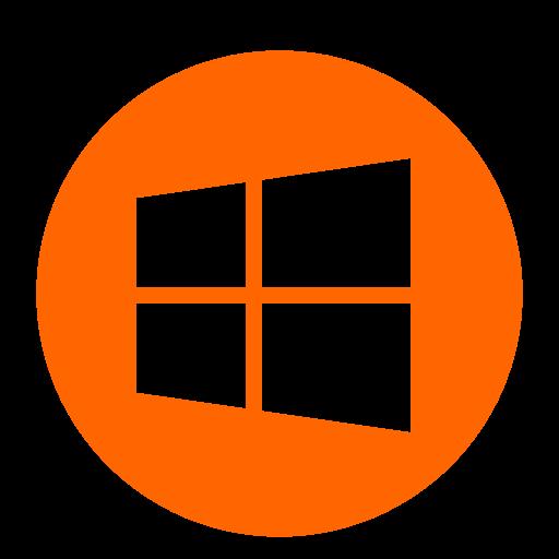 Logo Windows (icône png) orange