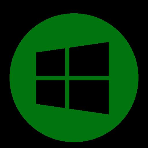 Logo Windows (icône png) vert