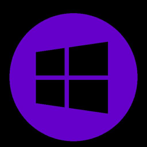 Logo Windows (icône png) violet