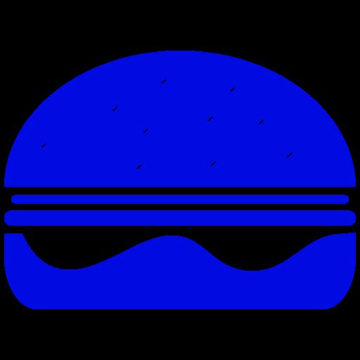 Symbole Burger (symbole png) bleu