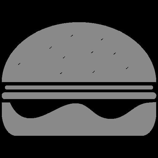 Symbole Burger (symbole png) gris