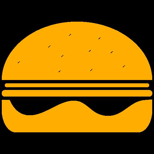 Symbole Burger (symbole png) jaune