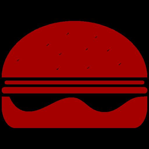 Symbole Burger (symbole png) rouge