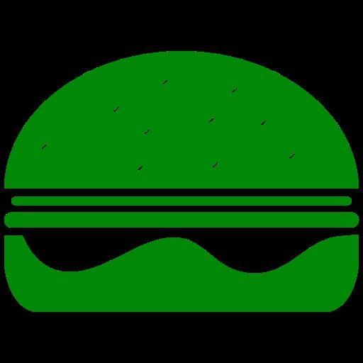Symbole Burger (symbole png) vert