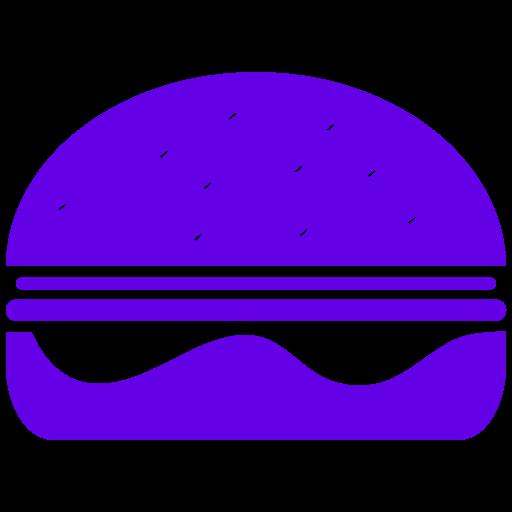 Symbole Burger (symbole png) violet