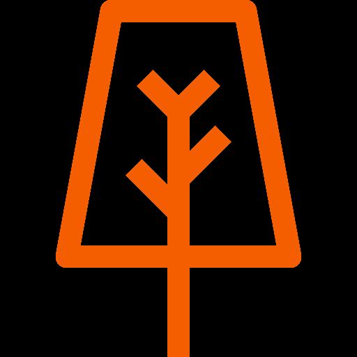 Symbole de l'arbre (symbole png) orange