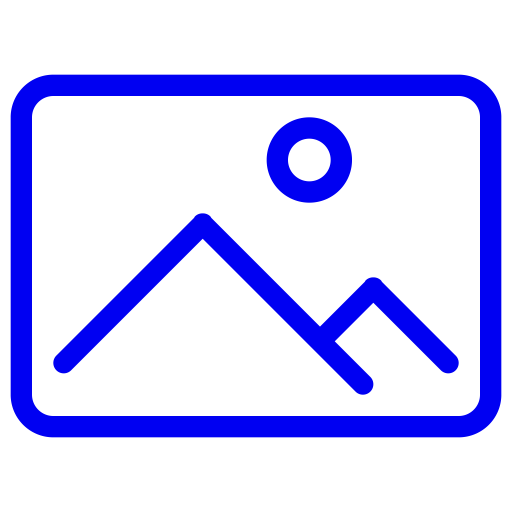 Symbole d'image bleue (symbole png)