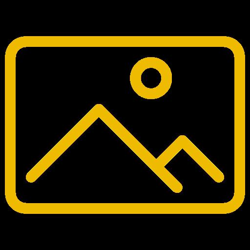 Symbole d'image (symbole png) jaune