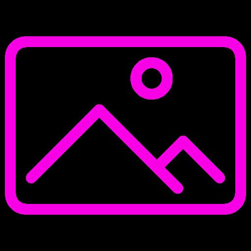 Symbole d'image (symbole png) rose