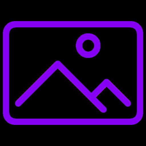 Symbole d'image (symbole png) violet