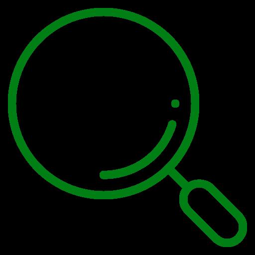 Symbole de loupe (symbole png) vert