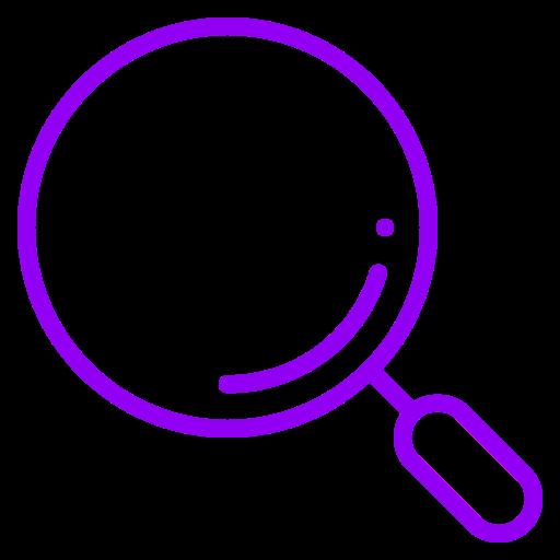 Symbole de la loupe (symbole png) violet