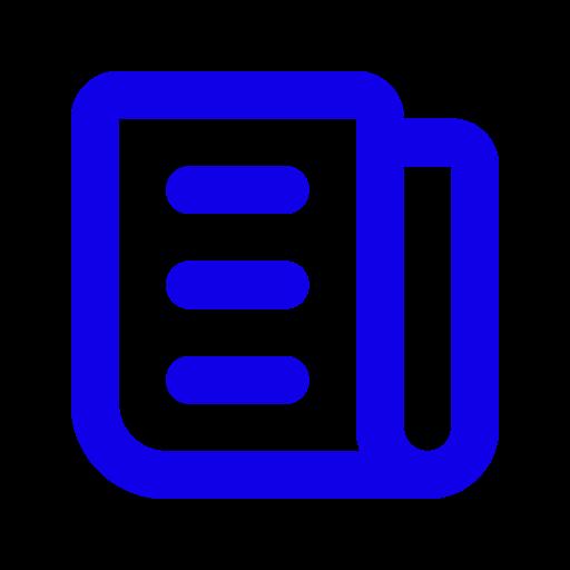 Symbole de nouvelles bleu (symbole png)