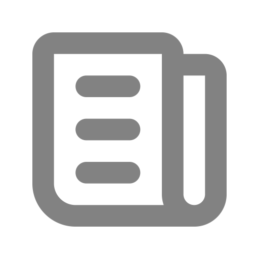 Symbole de nouvelles (symbole png) gris