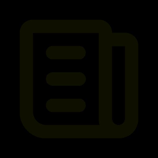 Symbole de nouvelles (symbole png) noir