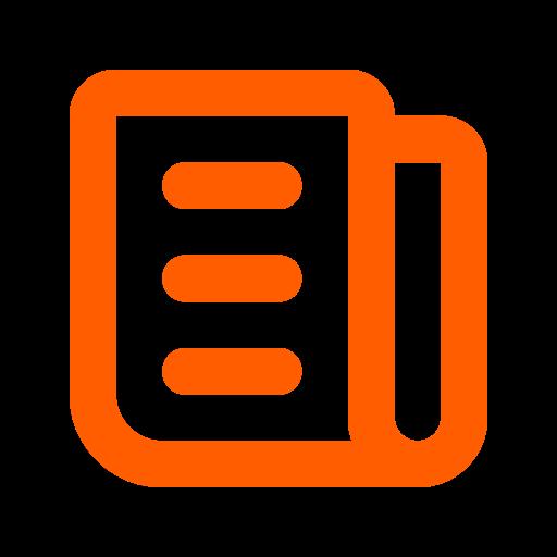 Symbole de nouvelles (symbole png) orange