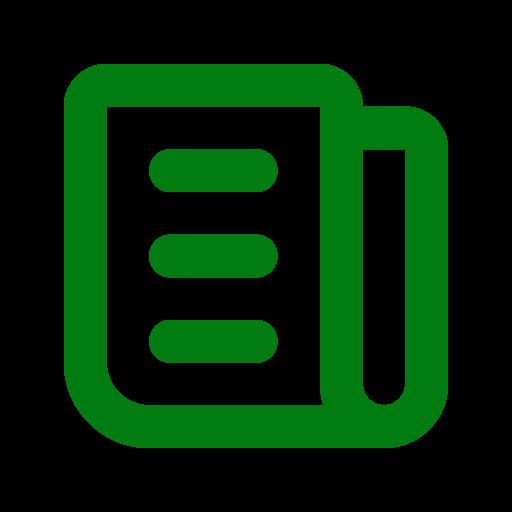 Symbole de nouvelles (symbole png) vert