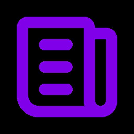 Symbole de nouvelles (symbole png) violet