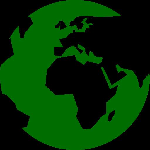 Symbole du monde (icône png) vert