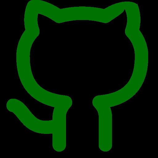 Symbole Github (icône du logo png) vert