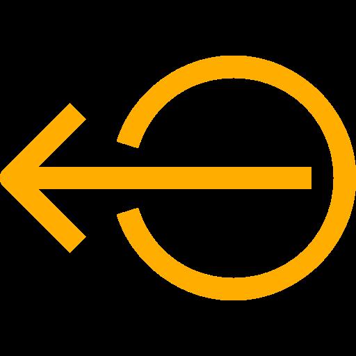 Symbole de déconnexion / déconnexion (symbole png) jaune