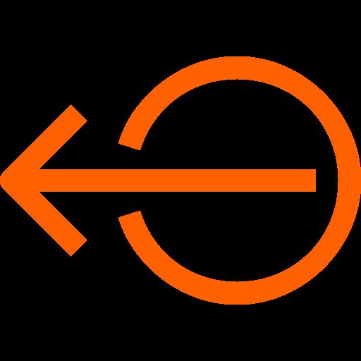 Symbole de déconnexion / déconnexion (symbole png) orange