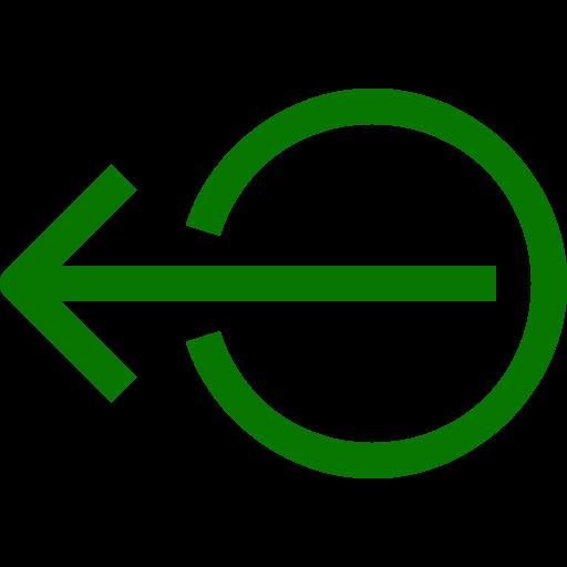 Symbole de déconnexion / déconnexion (symbole png) vert