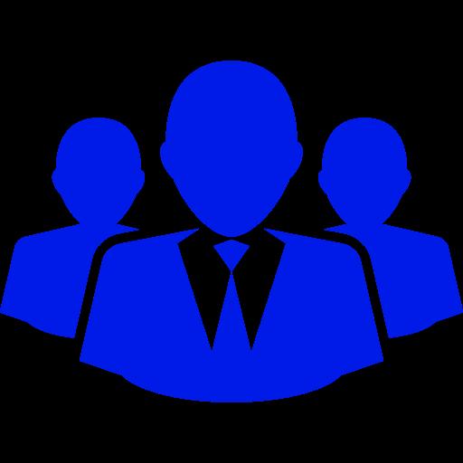 Icône d'affaires et d'entrepreneurs (symbole png) bleu