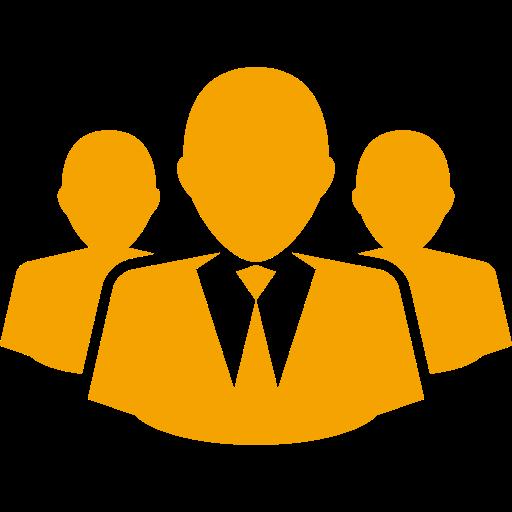 Icône d'entreprise et d'entrepreneurs (symbole png) jaune